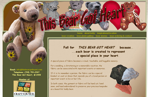 This Bear Got Heart Website