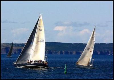 Lloyd Rees - Sailing near Bell Island
