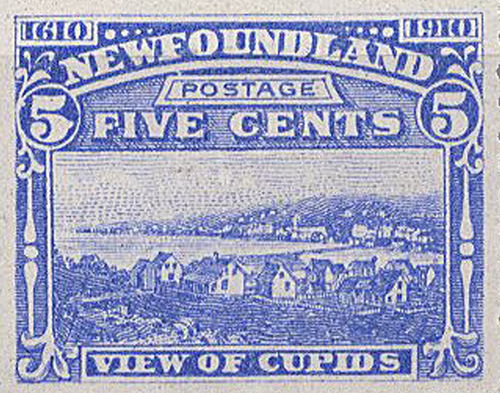 Cupids in 1910 - Newfoundland Stamp