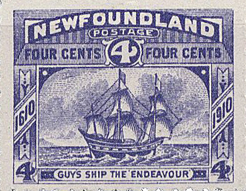 The Endeavour - Newfoundland Stamp